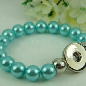 Light Blue Snap Button Interchangeable Bracelet